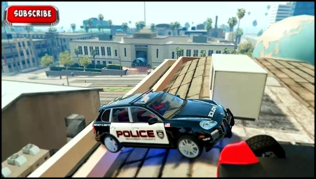 COLORS VEHICLES FOR CHILDREN & POLICEMAN SPIDERMAN ON POLICE CAR  CARTOON VIDEO FOR KIDS