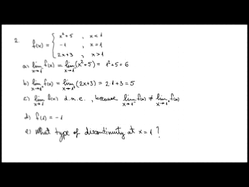 1.4. Limits and Continuity - Example1 - Part2