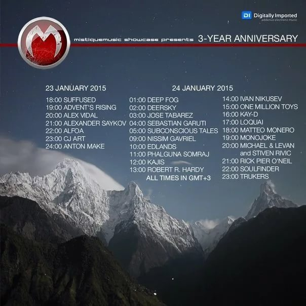 Advent's Rising - MistiqueMusic showcase 3-Year anniversary [23-01-15]