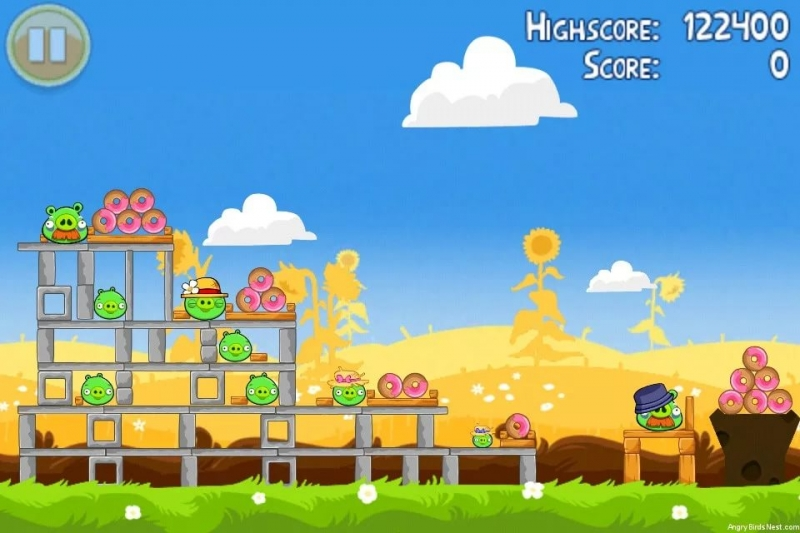 Angry Birds (игра) - Summer Pignic музыка из игры Angry Birds Seasons