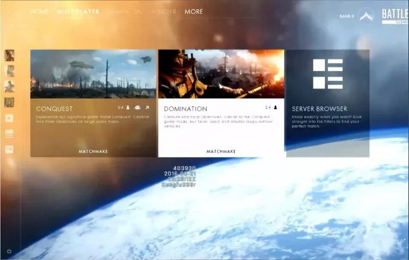 Battlefield 1 - Main Menu 5