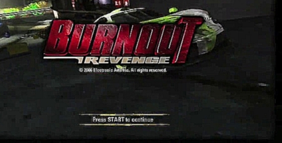Burnout Revenge (2005) - Intro screen, xbox 360 [Full HD]
