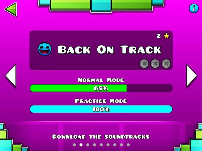 DJVI/Geometry dash v 122778353 - Back on Track