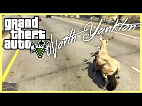 GTA 5 - Playing as Animals and visiting North Yankton