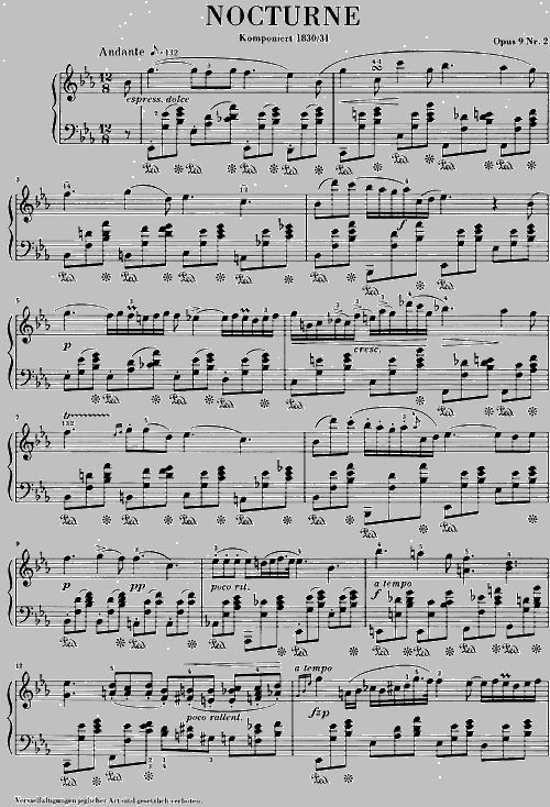 [Finky] Nocturne in E-flat major, Op. 9, No. 2 1832 by Frédéric Chopin