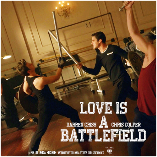 glee cast - love is a battlefield