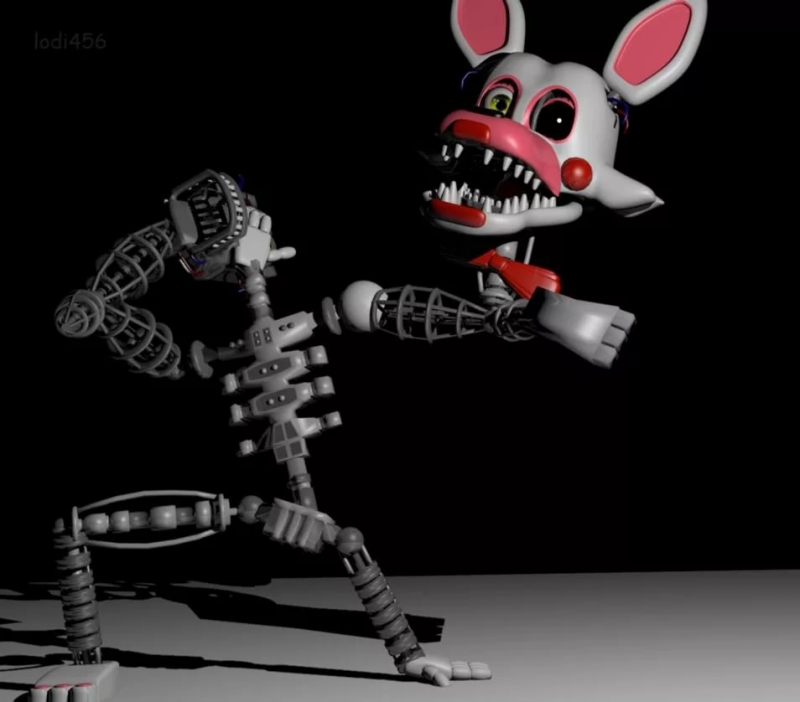 Mangle Static / Помехи Мангл - RUS Translete - FNaF 2 Five Nights at Freddy\'s 2