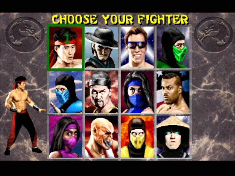 MORTAL KOMBAT 3 Select your fighter(EDDI) - By GeraEDDI