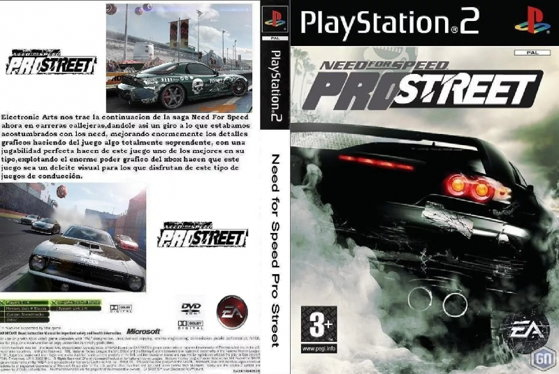 Need For Speed Pro Street - Main Menu