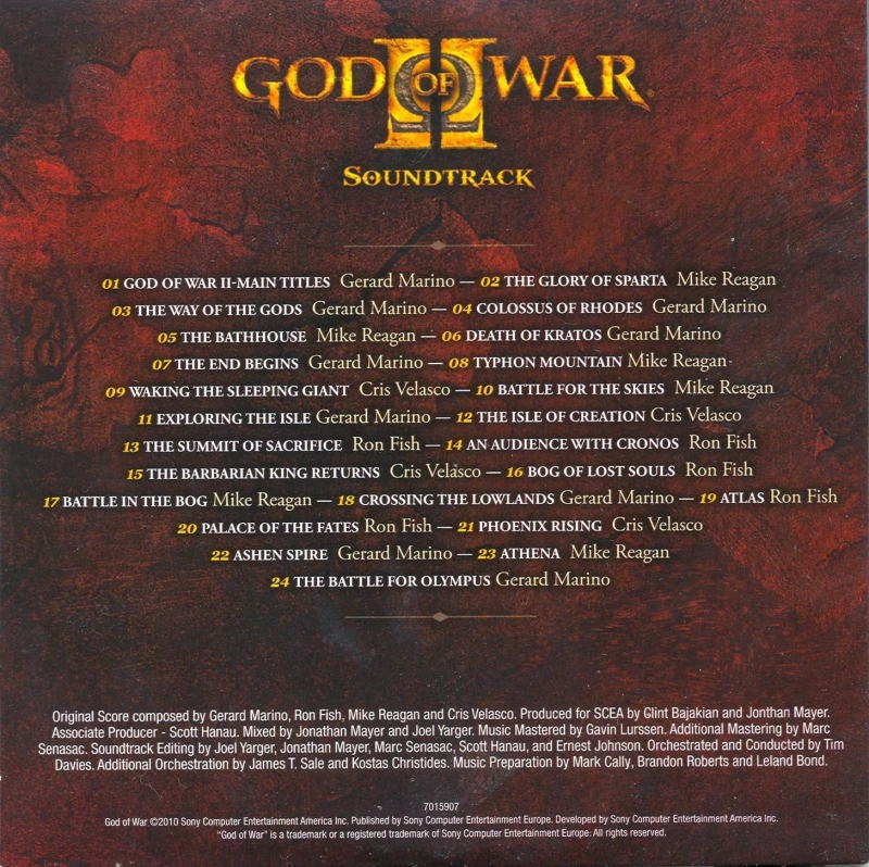 ost God of war 2 - The Glory Of Sparta