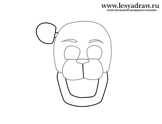 Как нарисовать мишка фредди золотой фредди
