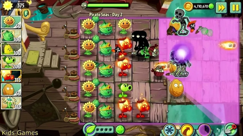 Plants vs Zombies 2 Its about time - Pirate seas Mini games