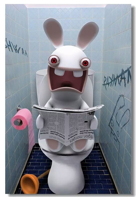 Rayman Raving Rabbids - Bunnies can't slide