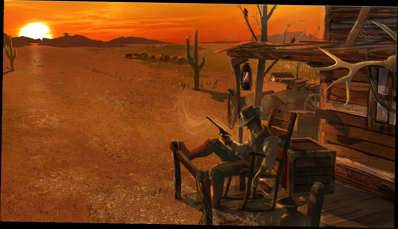 Hard West concept art and trailer