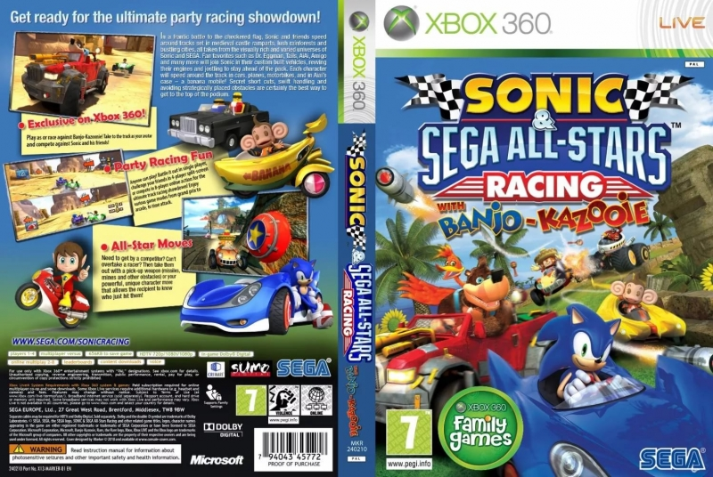 Sonic and Sega All-stars Racing - Sonic All-stars Move