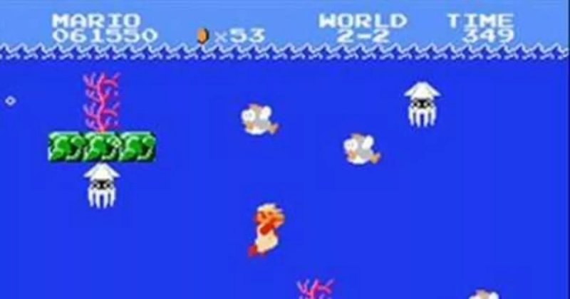 Super Mario Bros (NES) - Underwater [HQ Stereo mixed by Azatron]