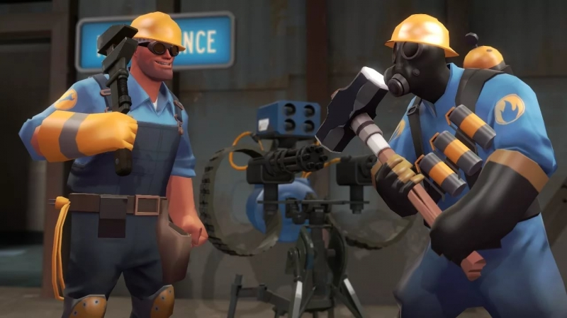 TF2 - Scout ft pyro and engineer