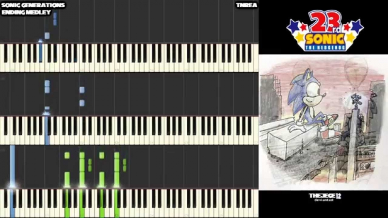 TNRea - Sonic Generations - Ending Medley - Awesome for Piano