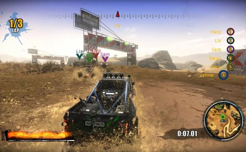 1nsane 4x4 off road racing - Menu