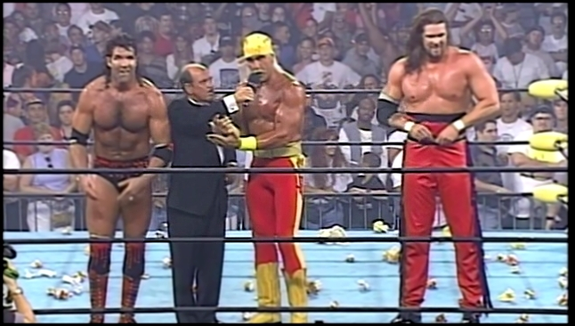 Hulk Hogan NWO formation interview, WCW Bash at the Beach 1996