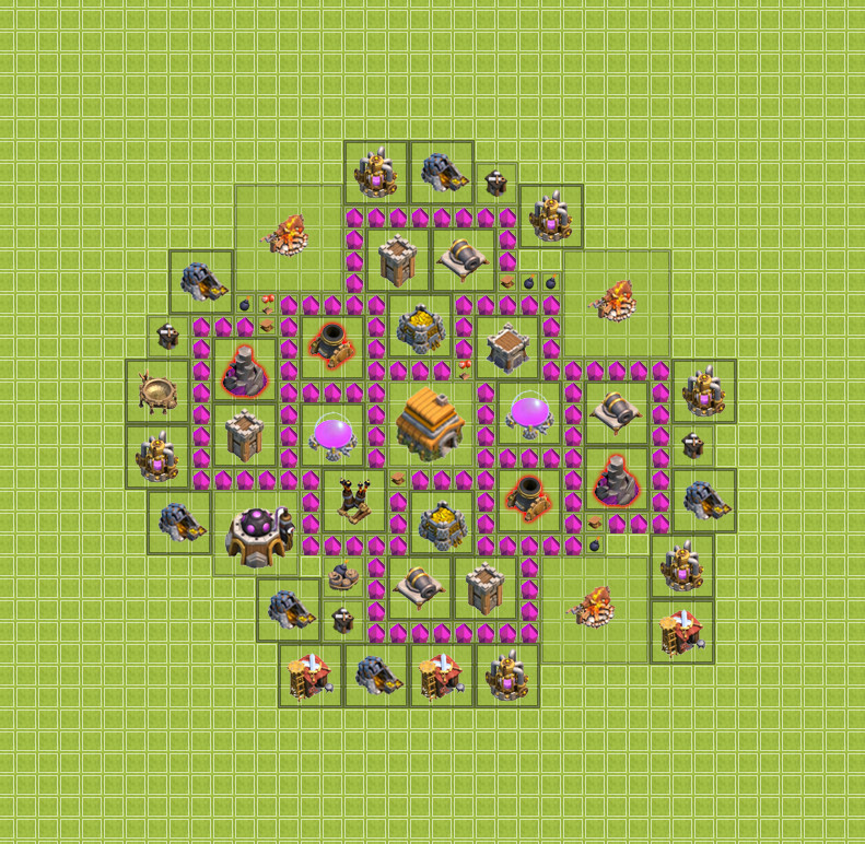 Clash of Clans - Фул тх 10