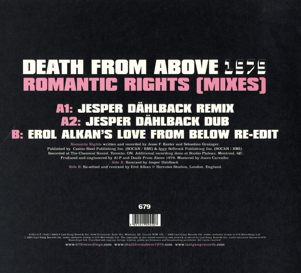 Death From Above 1979 - Romantic Rights SSX ON TOUR OST