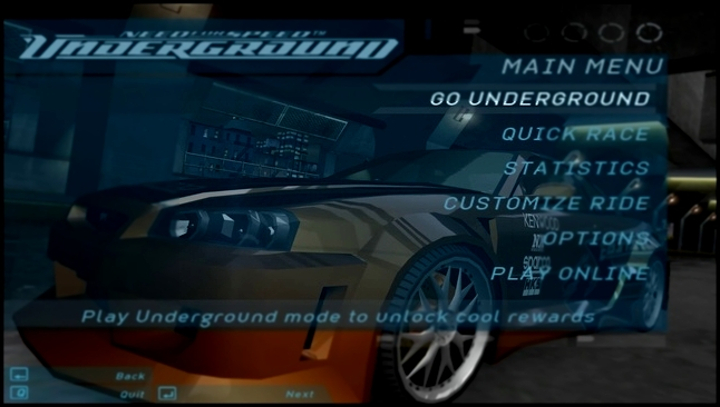 Need for Speed: Underground 2003 - main menu | ''Get Low'' [Full HD]