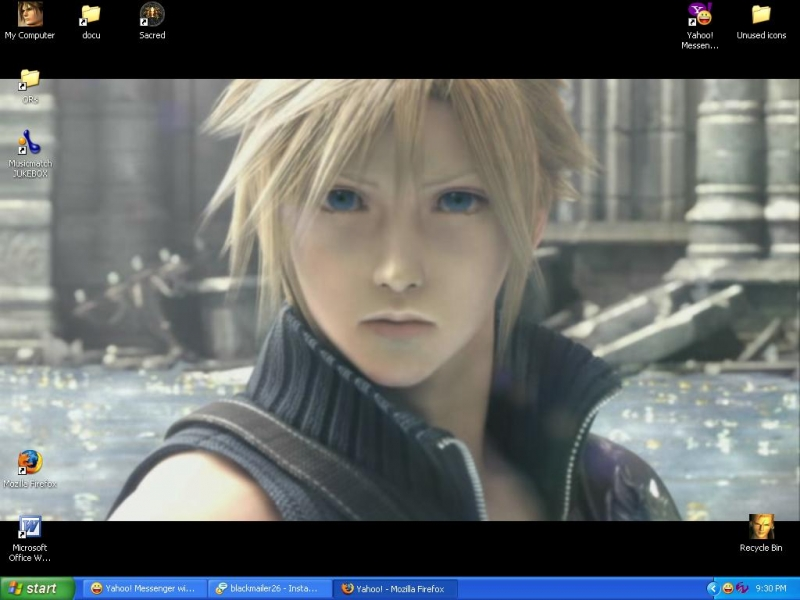 Final Fantasy VII Advent Children - Cloud Smiles
