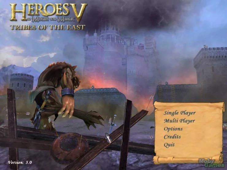 Heroes of Might and Magic 5 Tribes of the East - Main Menu