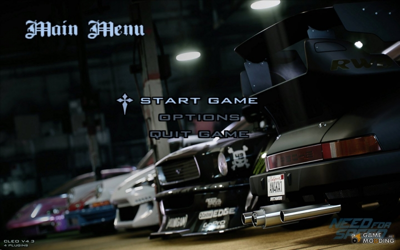 Need for speed 4 - Menu
