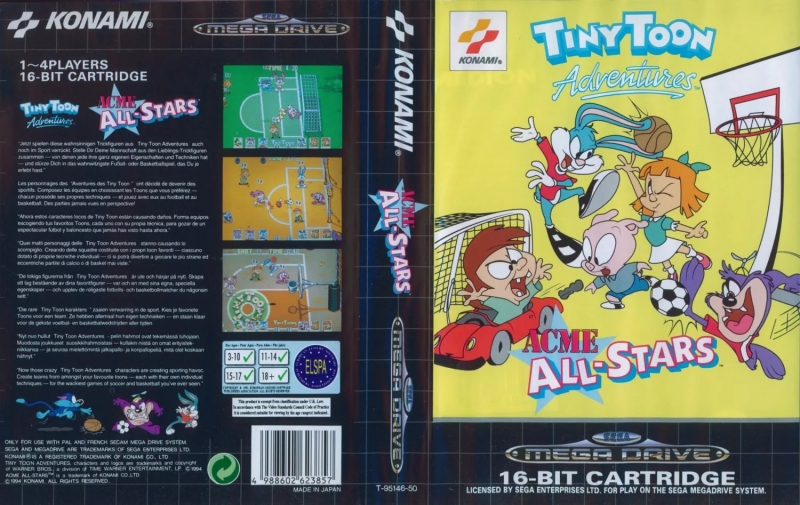 "Tiny Toon Adventures Acme All-Stars (M. Ouchi, Kiyoshi ""K-A'Aµ"" Murai) - Win Game"